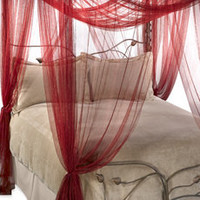 Mombasa? Majesty Ruby Red Bed Canopy - Bed Bath & Beyond