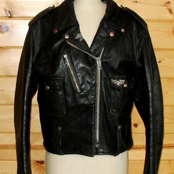 1970s Cafe Racer Harley Davidson AMF Leather Jacket