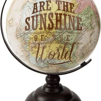 Moms are the Sunshine of the World Decorative Desktop Globe