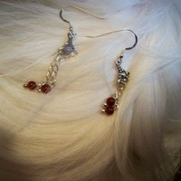 Silver Carnelian Earrings  Magic Jewelry
