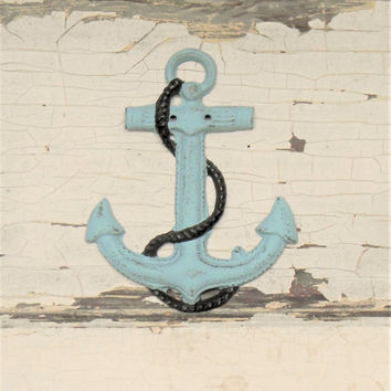 Anchor Wall Decor,Cast Iron Anchor,Anchor Decor,Beach House Decor,Nautical Decor,Seashore Decor,Gifts for Boat Lovers,Boating Decor