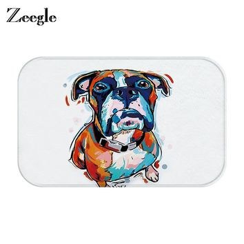 Autumn Fall welcome door mat doormat Zeegle Entrance s Funny Lovely Cartoon Dog Cat Pattern Rugs Light Thin Flannel Waterproof Kitchen Bedroom Carpet AT_76_7