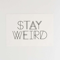 Kate Knox Stay Weird Art Print - Urban Outfitters