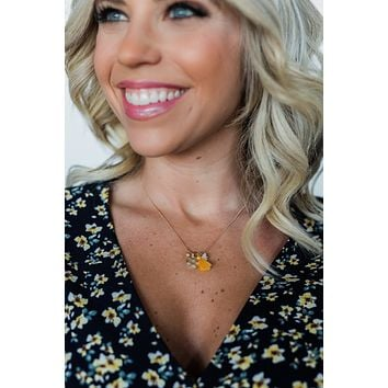 Simple & Charming Necklace- Golden Yellow