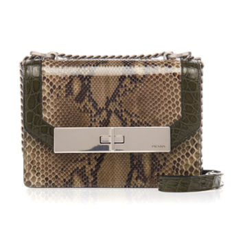Small Python Shoulder Bag | Moda Operandi