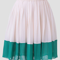 Lunching In Paris Colorblock Skirt