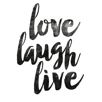 "Printable Wisdom Inspirational Print ""Love Laugh Live"" Motivational Quote Typography Art Home Decor Typographic Print"