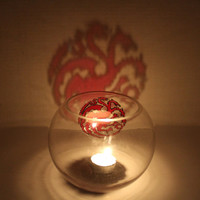 Targaryen Game of Thrones Glass Candle Holder Bowl