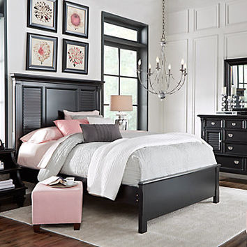 Belmar Black 5 Pc Queen Bedroom - Bedroom Sets Colors