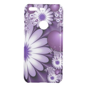 Falling in Love Abstract Flowers & Hearts Fractal Uncommon Google Pixel Case