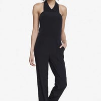 CRISSCROSS NECK HALTER JUMPSUIT from EXPRESS