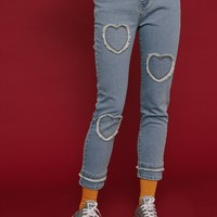 Tyakasha Good Luck Heart Jeans