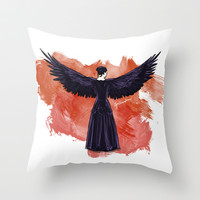 Mockingjay Throw Pillow by Cyrilliart