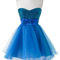 dELiAs > Blue Sequin Tulle > clothes > dresses > solid