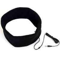 2017 Novelty Soft Comfortable Sleeping Headphones Sports Headband Headphones Earphones Headset Black 88