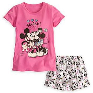 Mickey and Minnie Mouse Sleepwear Set for Women | Disney Store