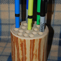 Birch Log Pencil Holder - Cabin Office Decor