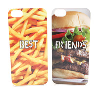 Hamburger and French Fries Best Friend Phone Cases