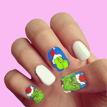 How the Grinch Stole Chistmas   - Nail Art - Nail Decals