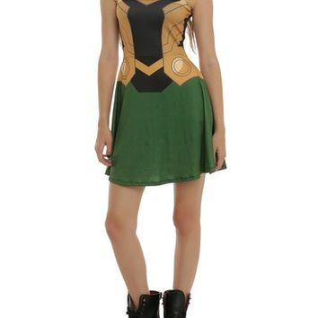 Marvel Her Universe Loki Costume Dress 3XL