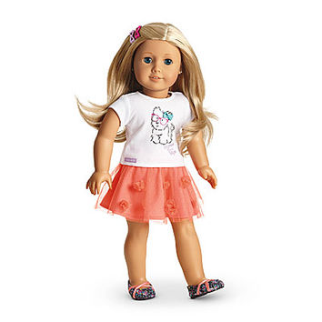 American Girl® Clothing: Coconut Cutie Outfit for Dolls + Charm
