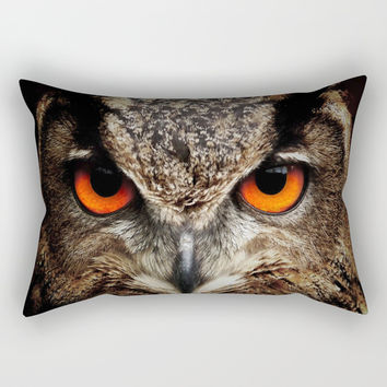 owl Rectangular Pillow by abeerhassan