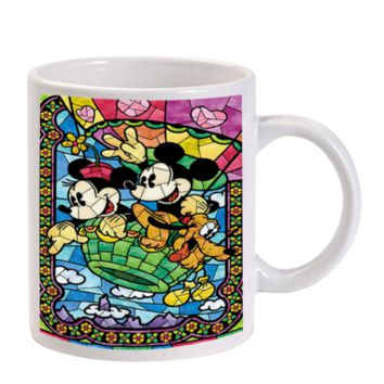 Gift Mugs | Mickey Mouse Minnie Mouse Stained Glass Ceramic Coffee Mugs