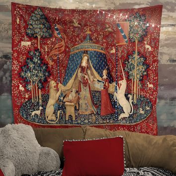 Lady with Unicorn Tapestry (Printed)