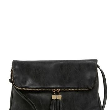Emperia 'Layla' Faux Leather Tassel Flap Crossbody Bag | Nordstrom