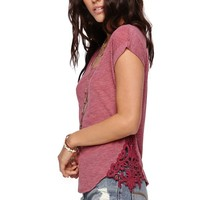 LA Hearts Dolman With Applique Top - Womens Tee -