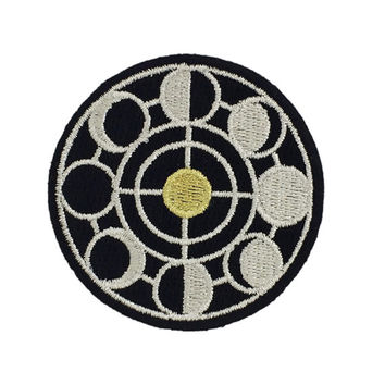 Moon Phases Embroidered Patch  / Iron-On Applique