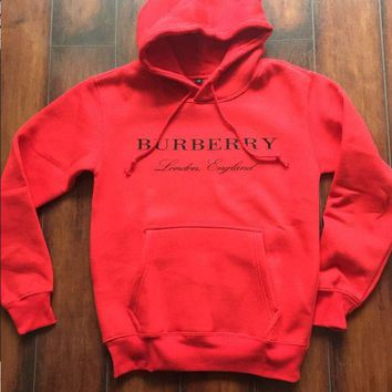 ONETOW BURBERRY Women Embroidery LOGO Hot Hoodie Cute Sweater