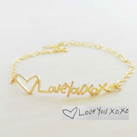 Personalized Signature Bracelet - Sterling Silver Name Bracelet - Your Handwriting Jewelry
