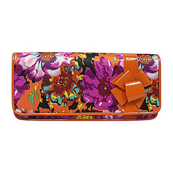 J. Renee Garbi Clutch - Orange/Fuchsia