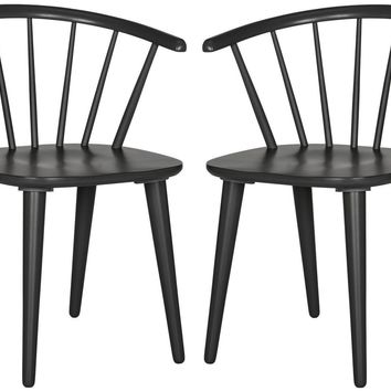 Blanchard Curved Spindle Side Chair Grey (Set of 2)