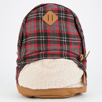 Sherpa Pocket Flannel Backpack Red Combo One Size For Women 24852734901