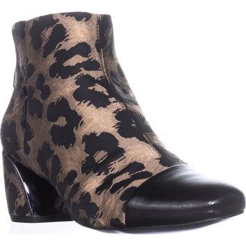 Nine West Joannie Ankle Boots, Natural Multi/Black, 11 US