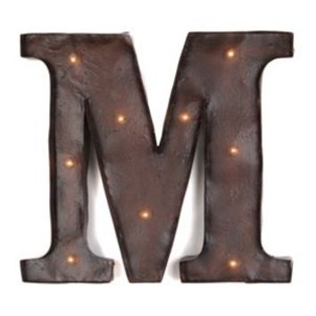 Brown LED Light-Up Letter Wall Plaque, M | Kirkland's