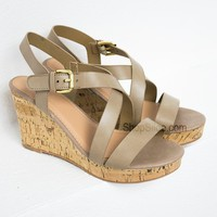 Taupe Spring Wedges