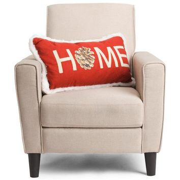 Reversible Faux Fur Back Holiday Large Throw Pillow