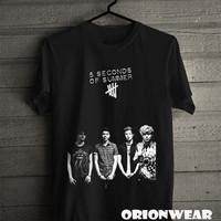 5 Seconds Of Summer Shirt New 5SOS T Shirt Tee Black Color Unisex - FS1