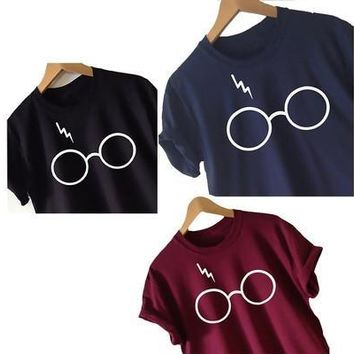 Women's Harry Potter T-shirt Lightning Glasses Shirt Tee High Quality Screen Print Super Soft Worldwide [8833375052]