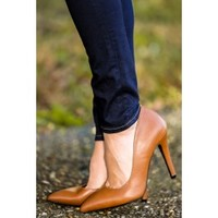 Working For The Weekend Heels-Cognac