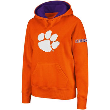 Clemson Tigers Women's Big Logo Pullover Hoodie - Orange