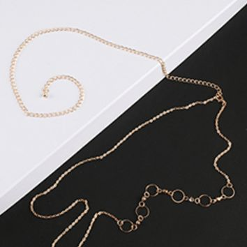 Circle Accent Back Necklace