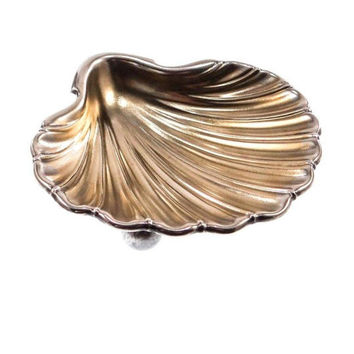 Antique Sterling Silver Shell Dish by Gorham from 1878
