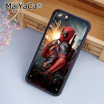 MaiYaCa Deadpool Marvel DC Comic Movie Superhero Phone Case Cover for iPhone 5 5s 6 6s 7 8 Plus X soft case for samsung S7 edge