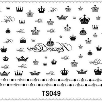 Crown Nail Stickers Stylish Stickers Tattoo Sticker [4923105540]