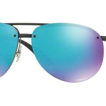 Ray Ban RB4293 CH 4293 601/A1 Black Blue Polarized Chromance Sunglasses 64mm