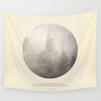 love the woods Wall Tapestry by Guido Montañés